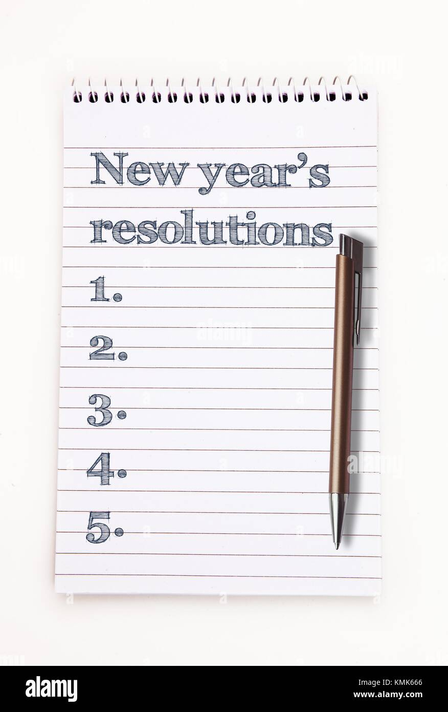 New year resolution list - Stock Image