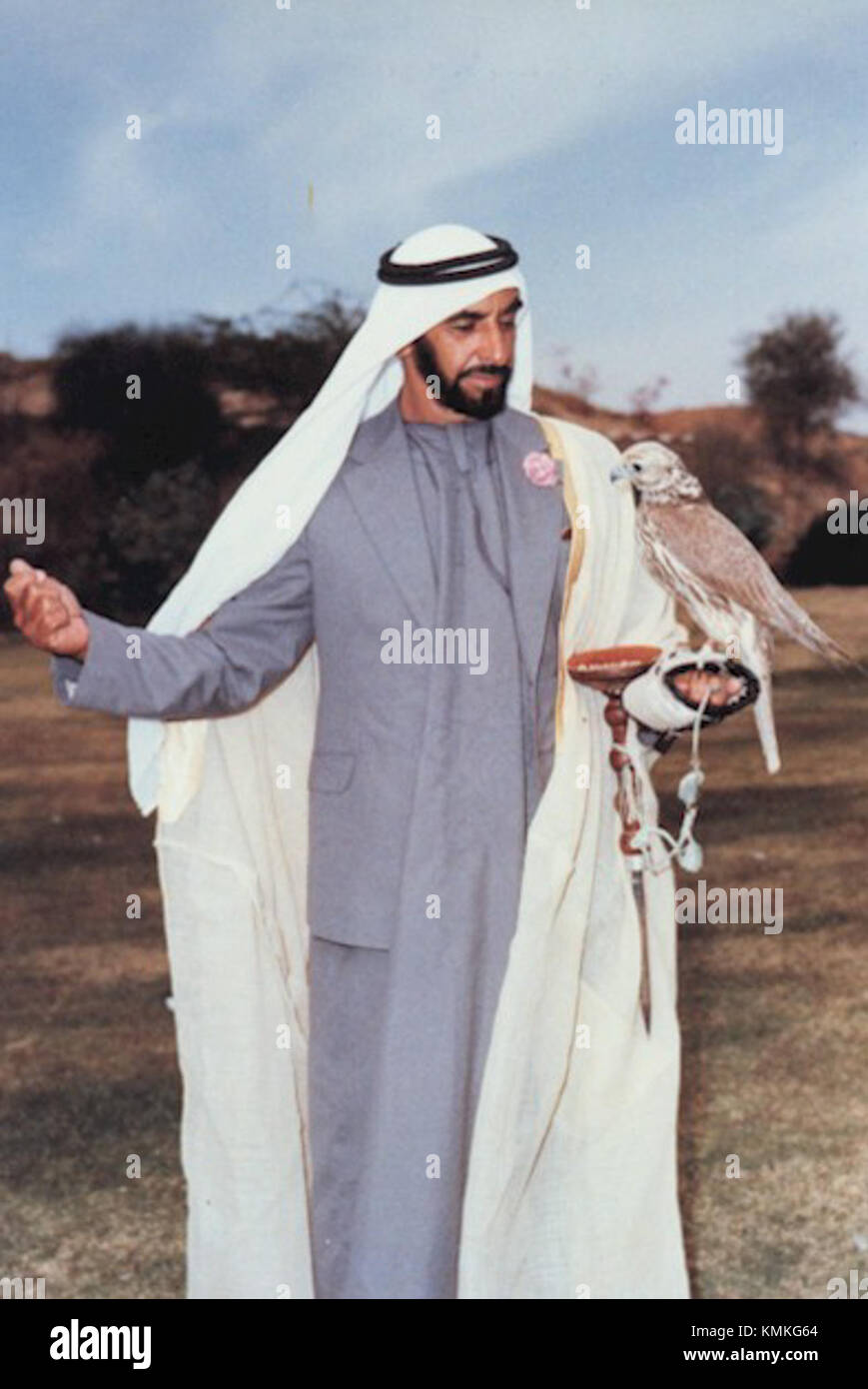 UAE Father of the Nation - Stock Image