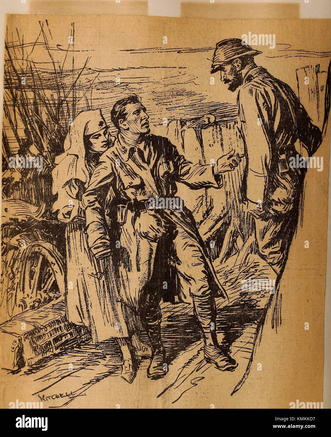 'Perkins School for the Blind Bound Clippings: World War Blind, 1917' (1917) - Stock Image