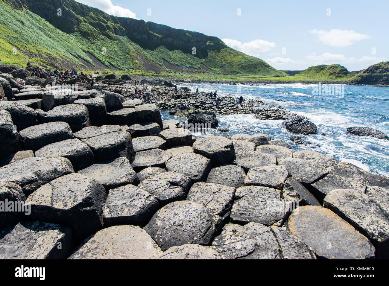 Landscapes of Northern Ireland. Giant's Causeway - Stock Image