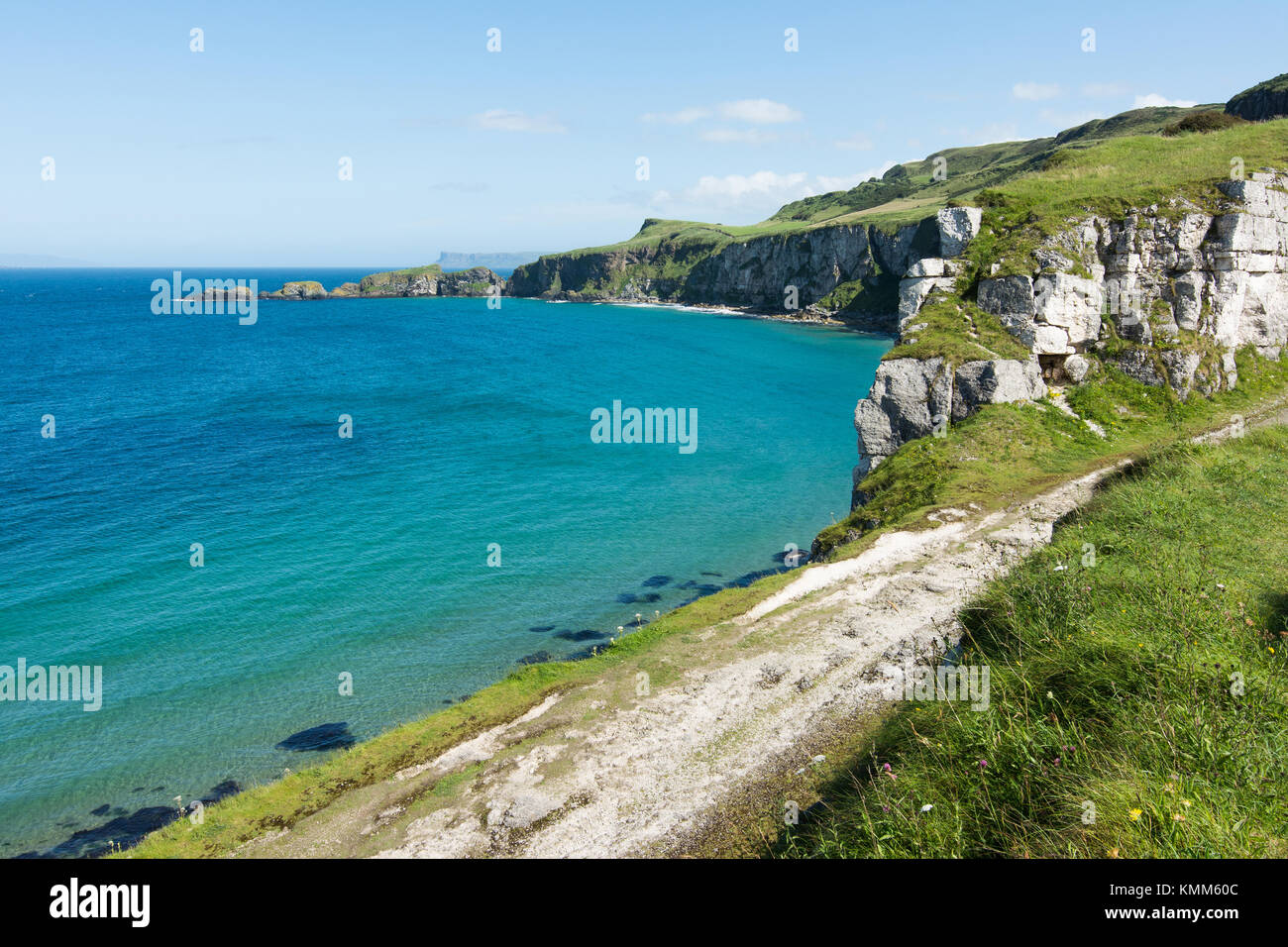 Landscapes of Northern Ireland. Carrick-a-rede - Stock Image