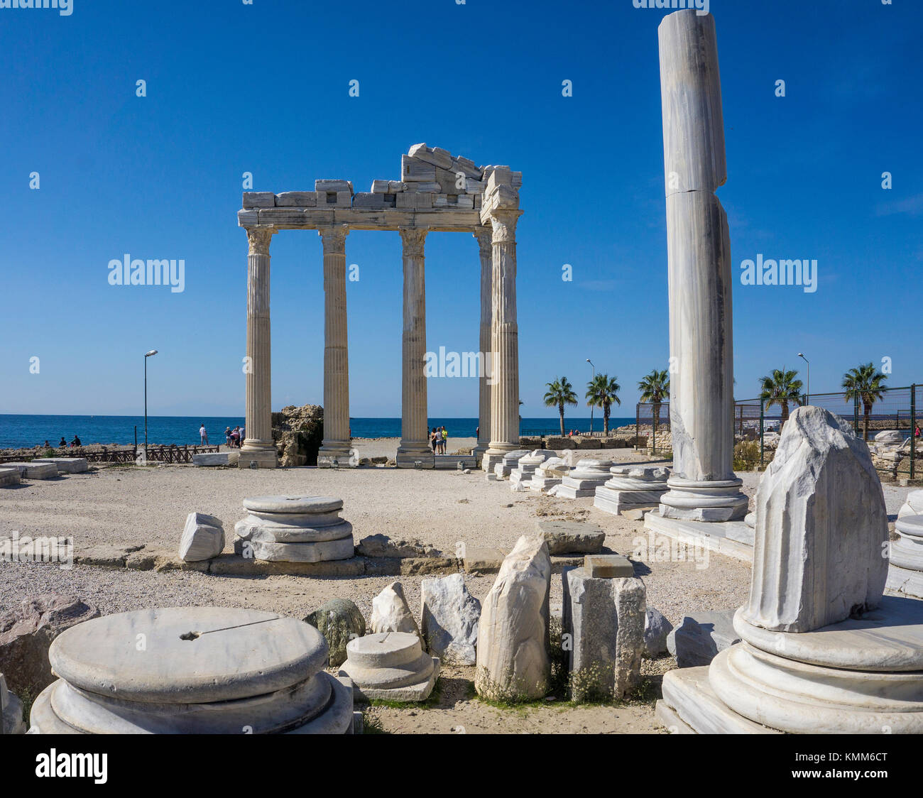 Temple of Apollon, remainings of the ancient Side, UNESCO world heritage site, Manavgat province, turkish riviera, - Stock Image