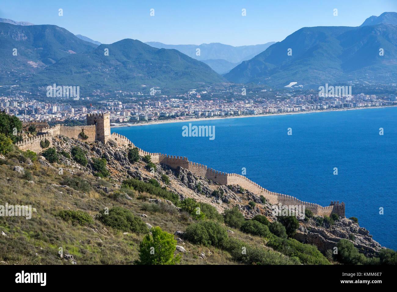 Fortress of Alanya, turkish riviera, Turkey - Stock Image