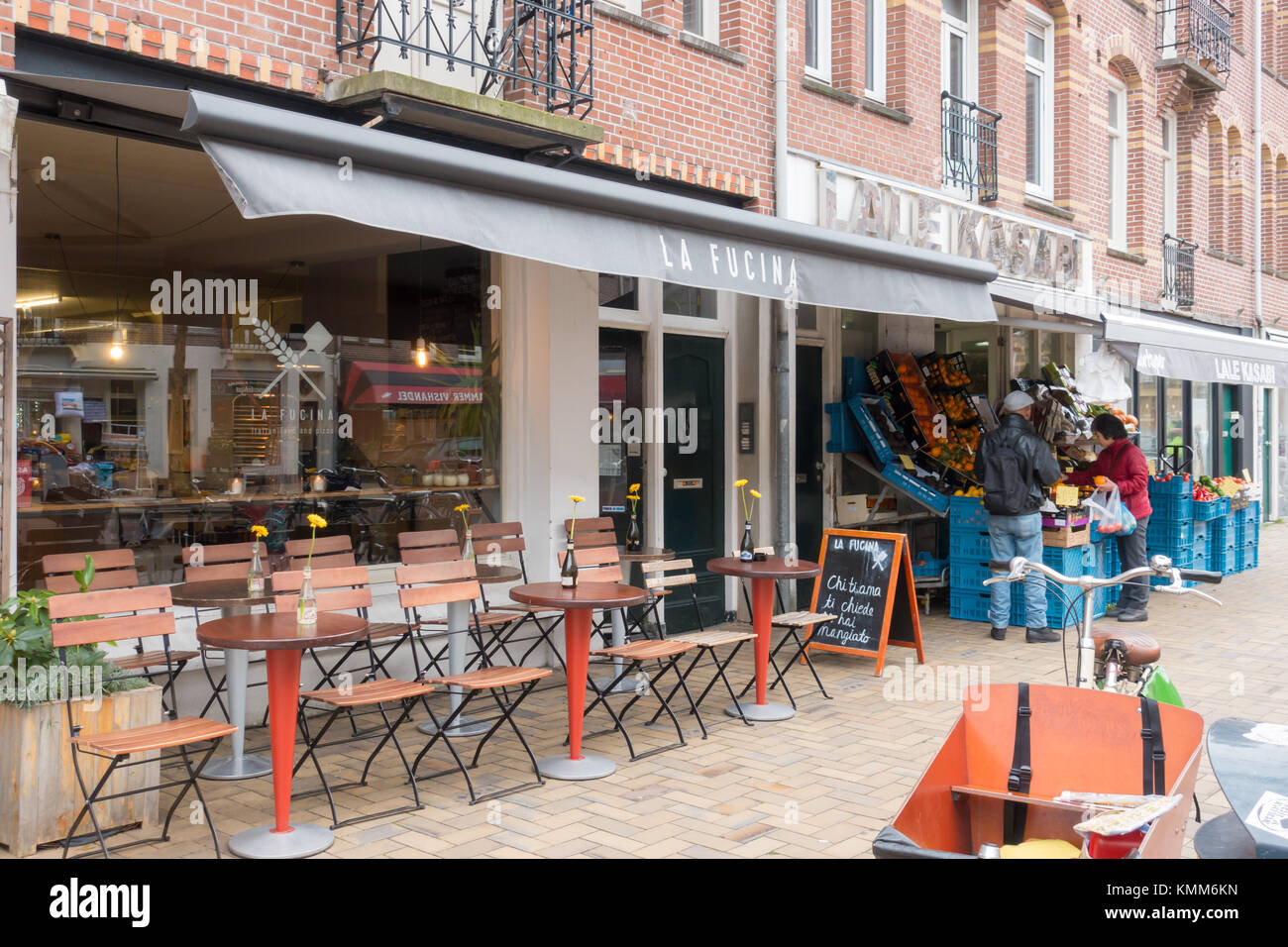 Exterior Of La Fucina Italian Restaurant At Javastraat Amsterdam Stock Photo Alamy