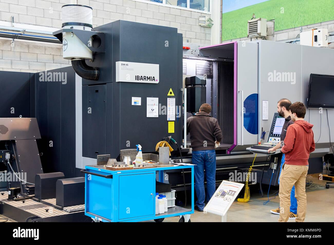 Machining center, 3D printing machine for the industry, it allows to create large metal parts from scratch and to - Stock Image
