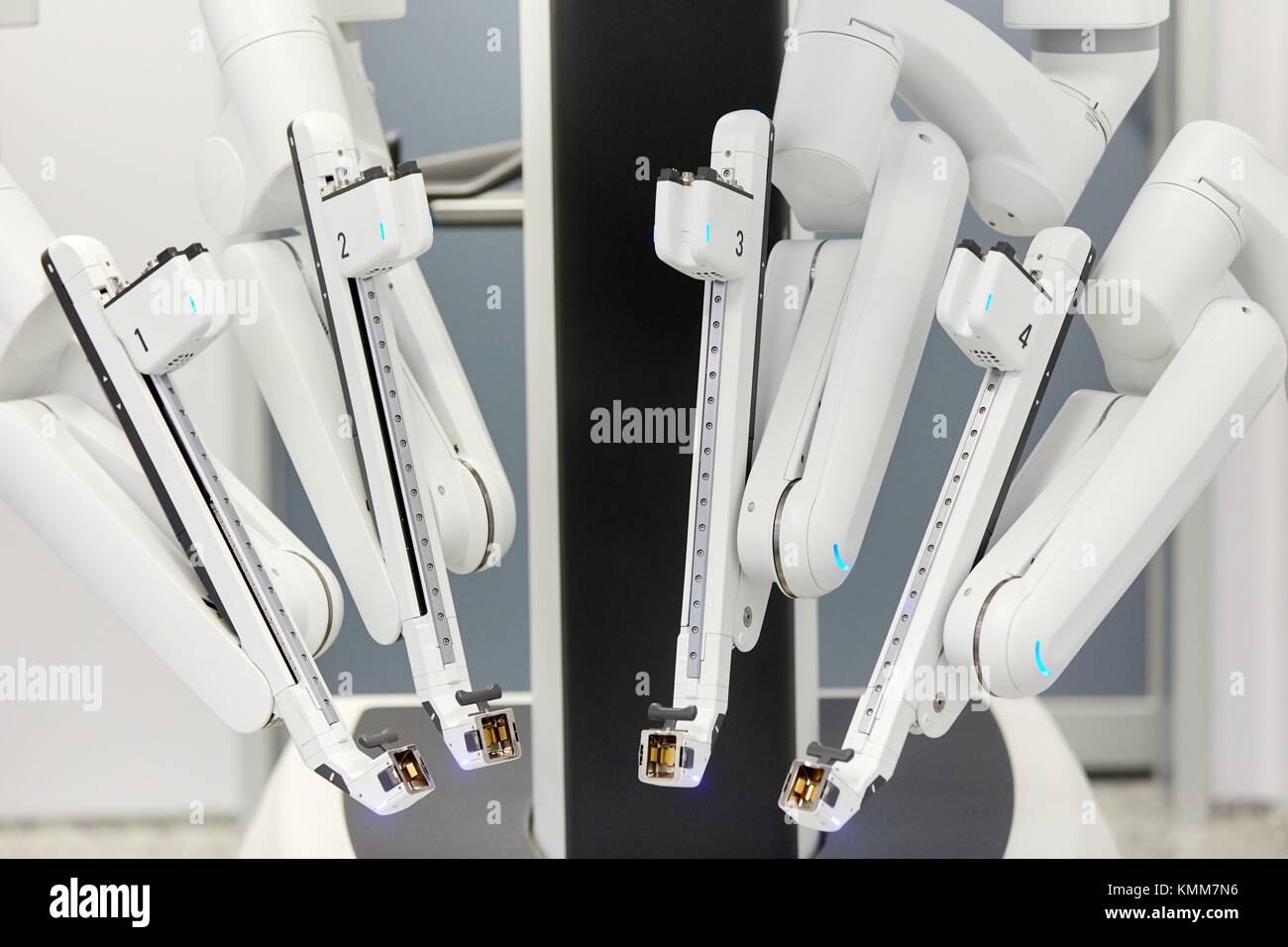 Surgical Treatment of Prostate Cancer, Radical prostatectomy, Da Vinci Surgical Robot, Urology, Surgery, Operating - Stock Image