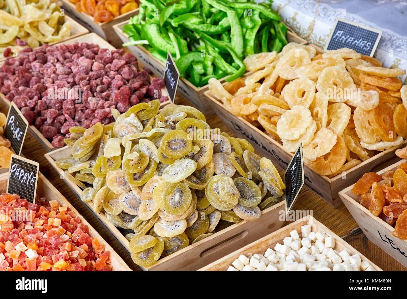 Market, Beaune, Côte d´Or, Burgundy Region, Bourgogne, France, Europe - Stock Image