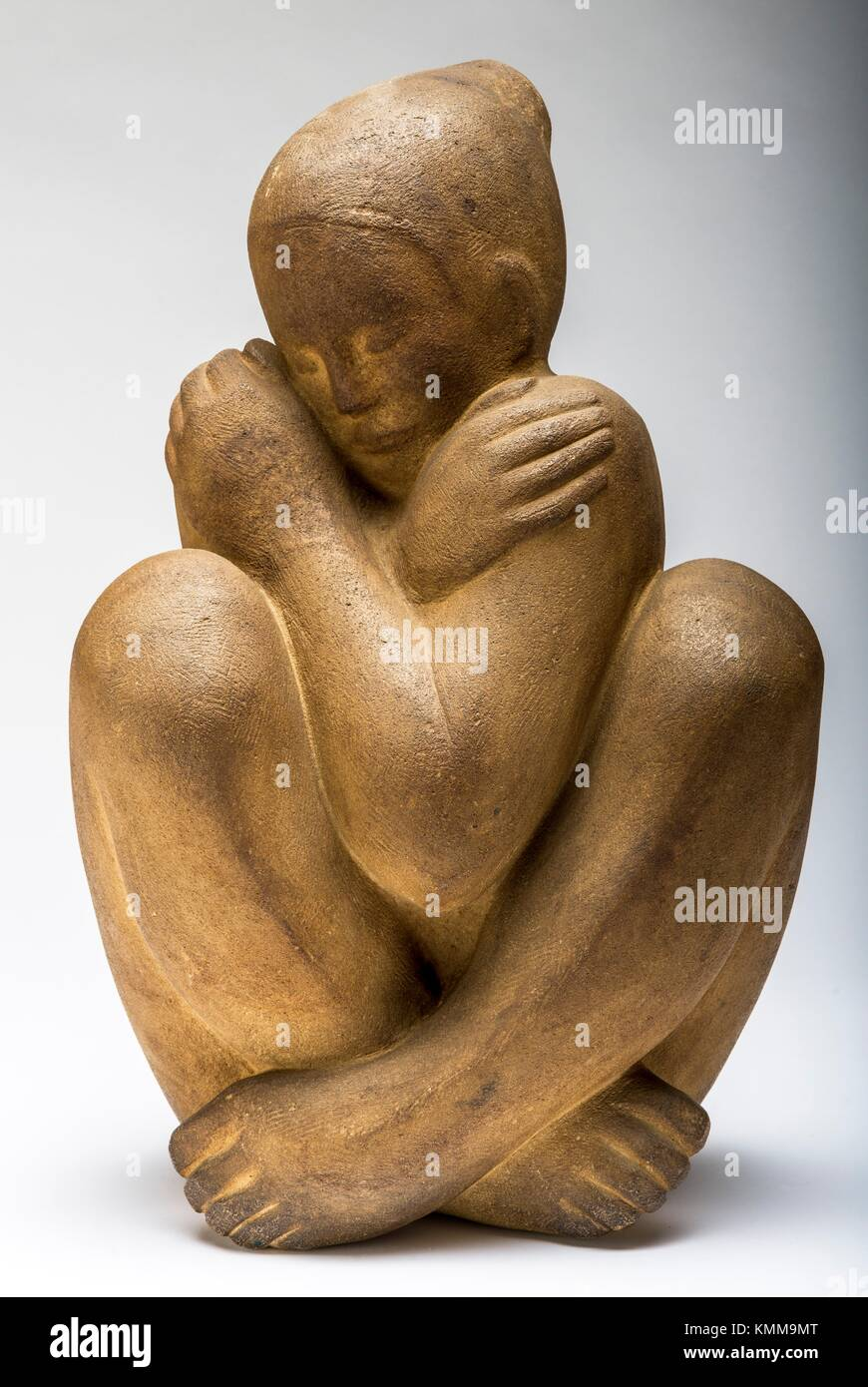 Softness, carved stone 1963 by French sculptor Jean Henninger. - Stock Image