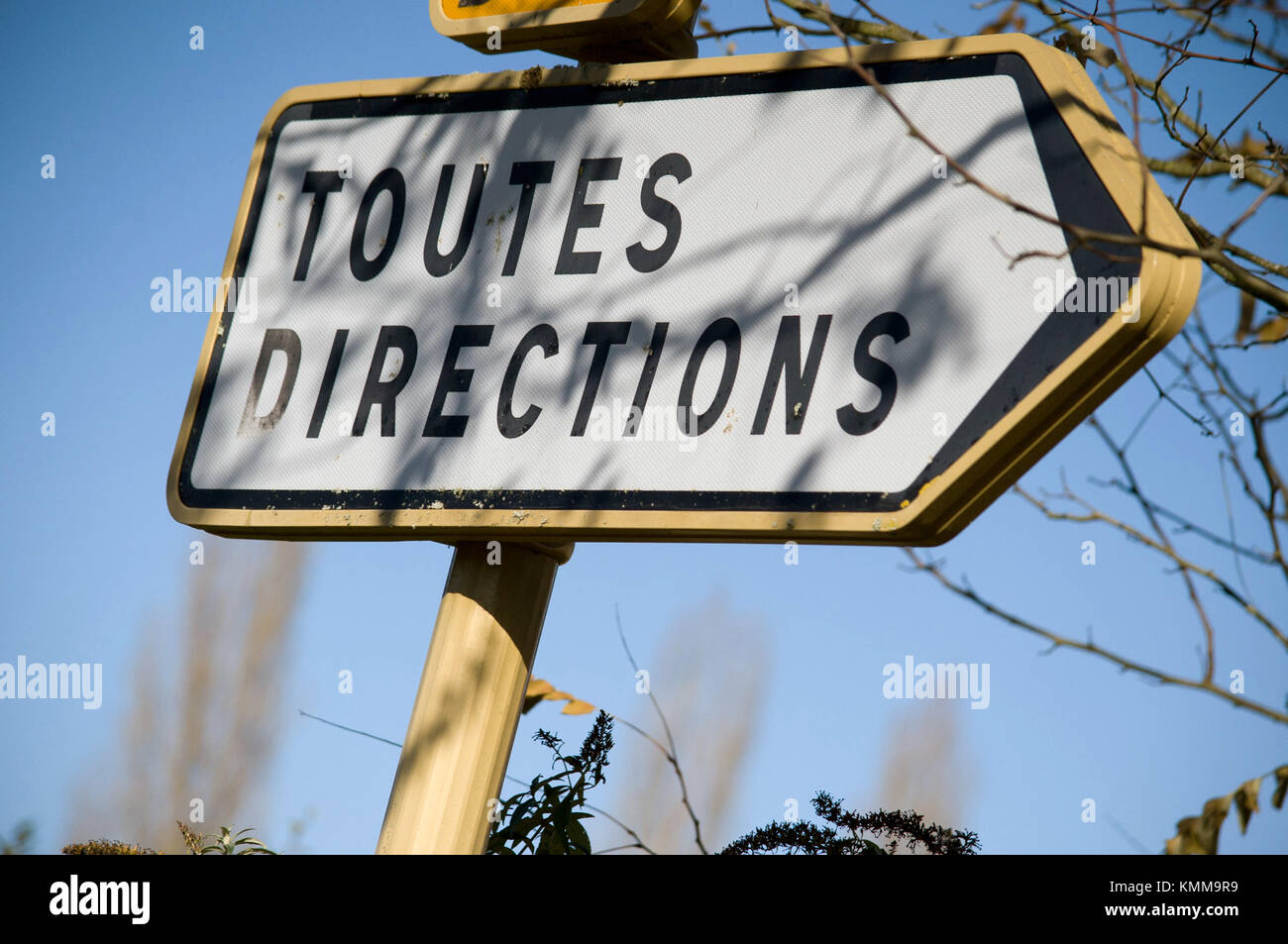 Toute Directions sign, Cazals, France - Stock Image