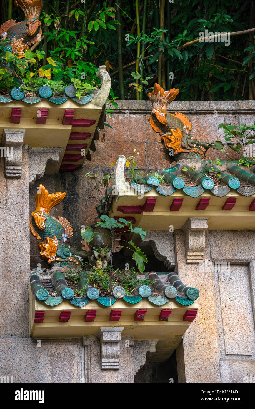 Central Memorial Arch details, Racecourse Fire Monument, Hong Kong - Stock Image