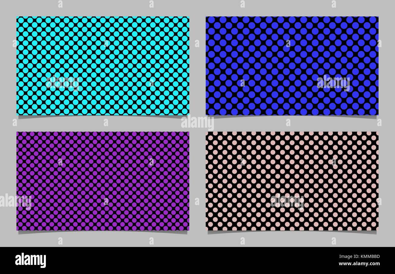Modern Polka Dot Business Card Background Set Vector
