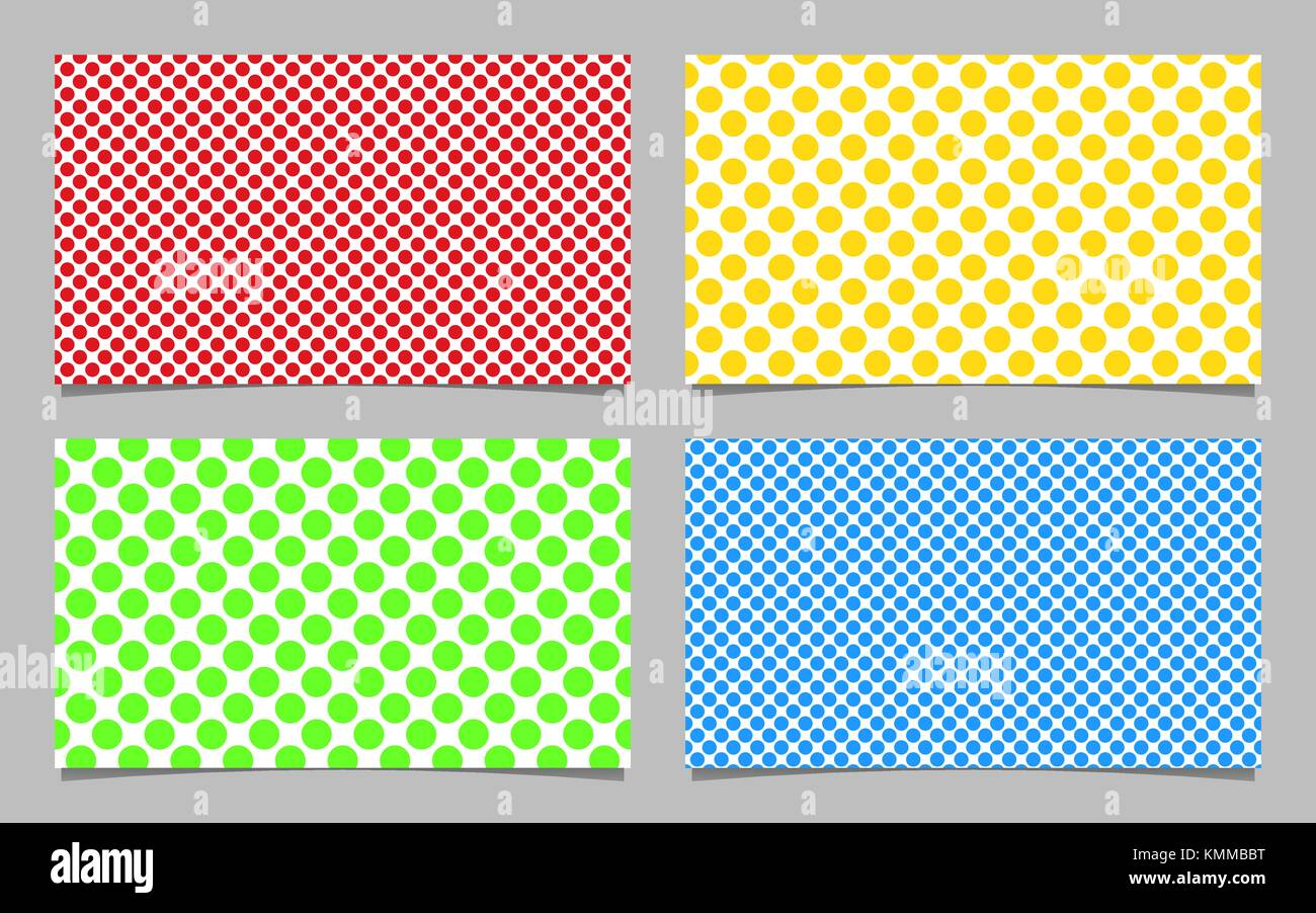 Abstract dot pattern business card background template design set abstract dot pattern business card background template design set vector id card illustration with colored circles wajeb Image collections