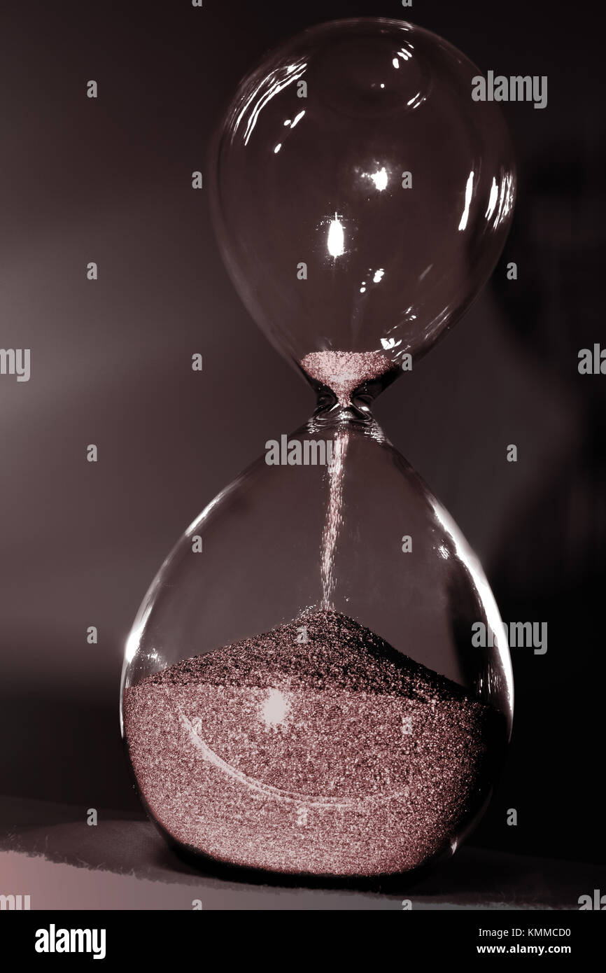 Hourglass isolated - Stock Image