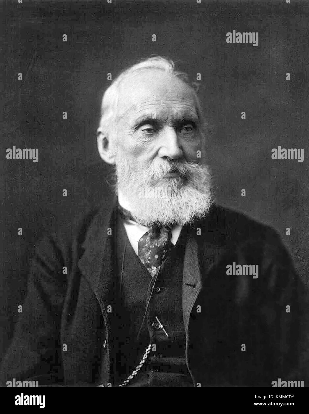 William Thomson, 1st Baron Kelvin, OM, GCVO, PC, FRS, FRSE (/ˈkɛlvɪn/; 26 June 1824 – 17 December 1907) was a Scots - Stock Image
