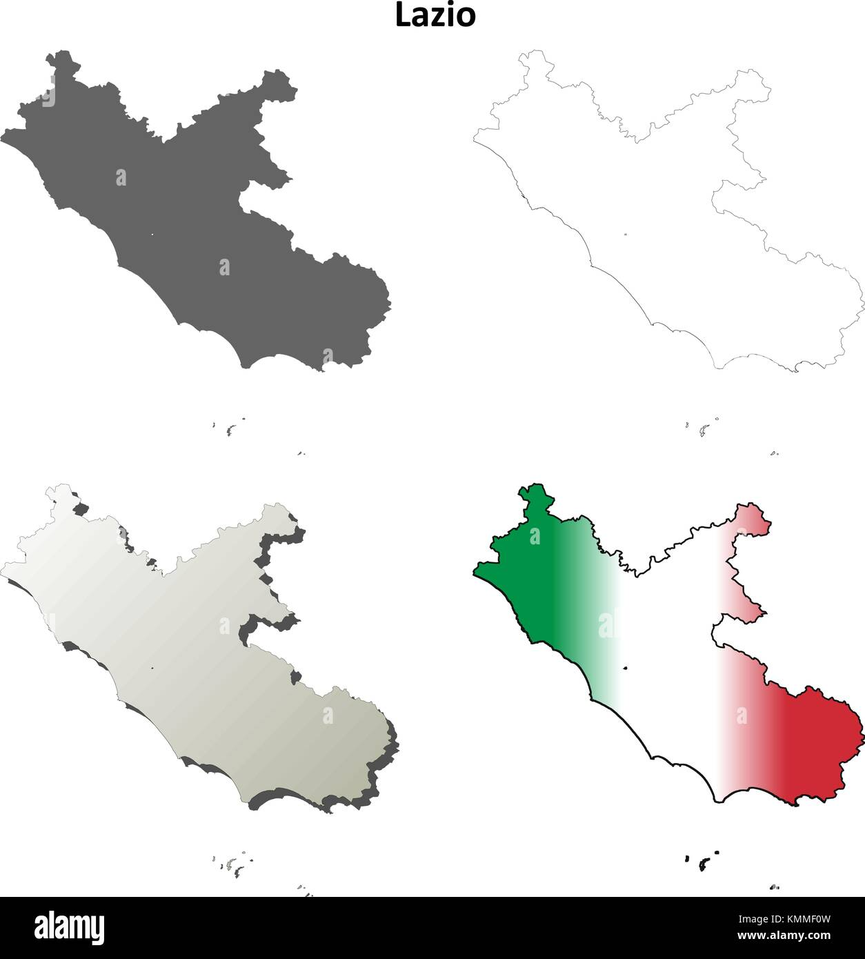 Lazio Map Vector Stock Photos & Lazio Map Vector Stock Images - Alamy