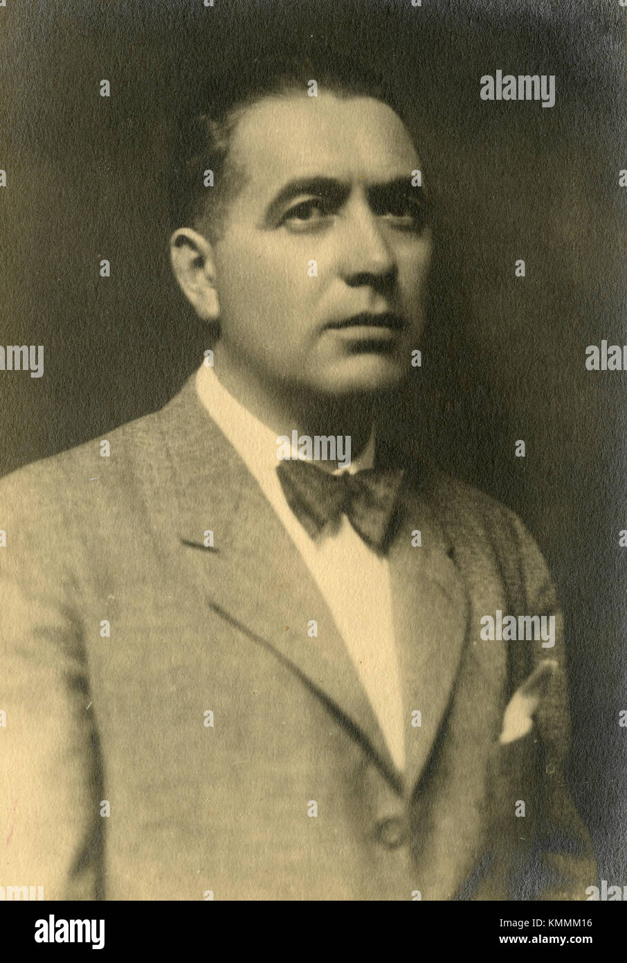 Man with bow-tie, Italy 1930s - Stock Image