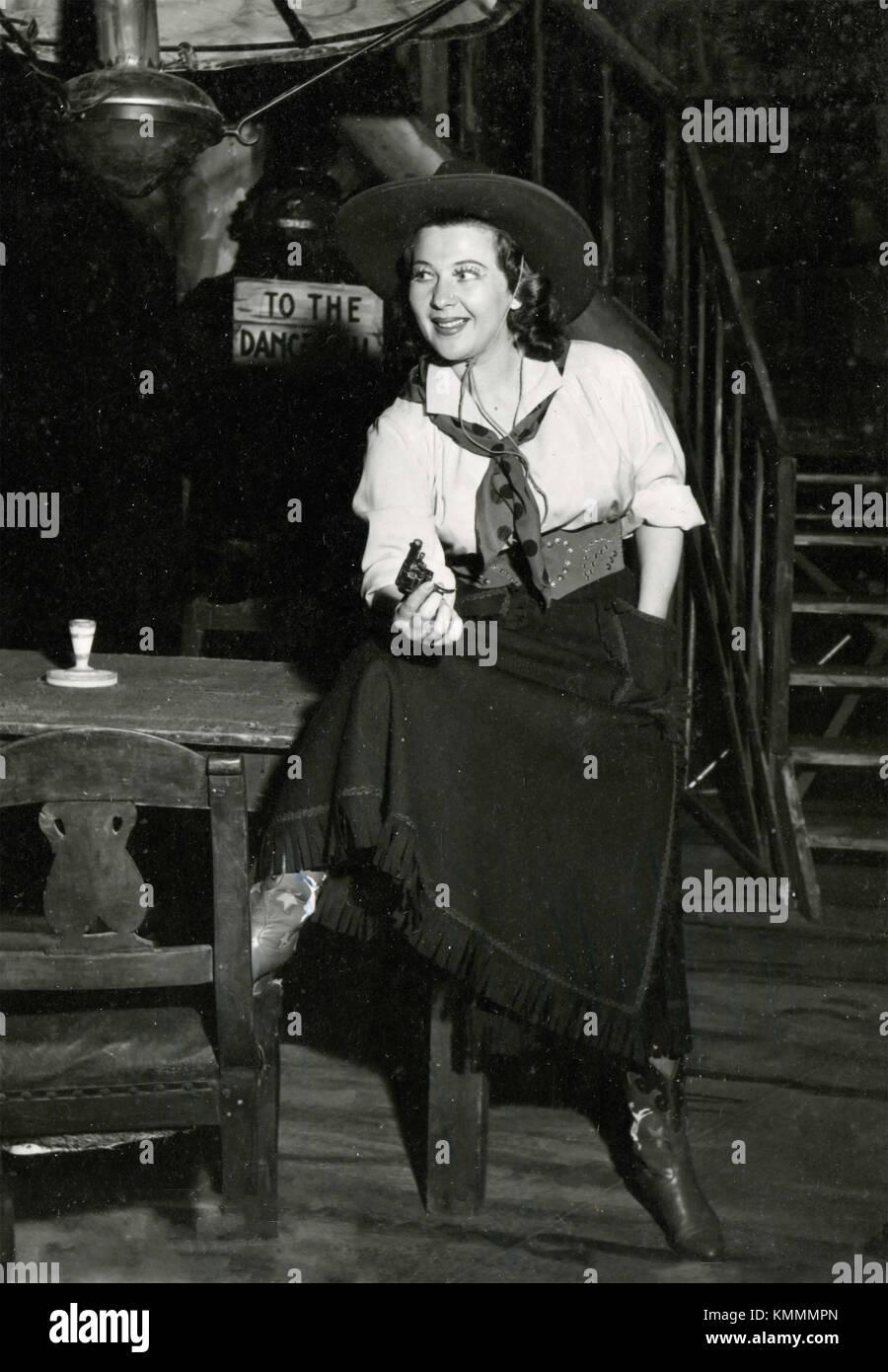Italian actress Gigliola Frazzoni in La Fanciulla del West, 1956 - Stock Image