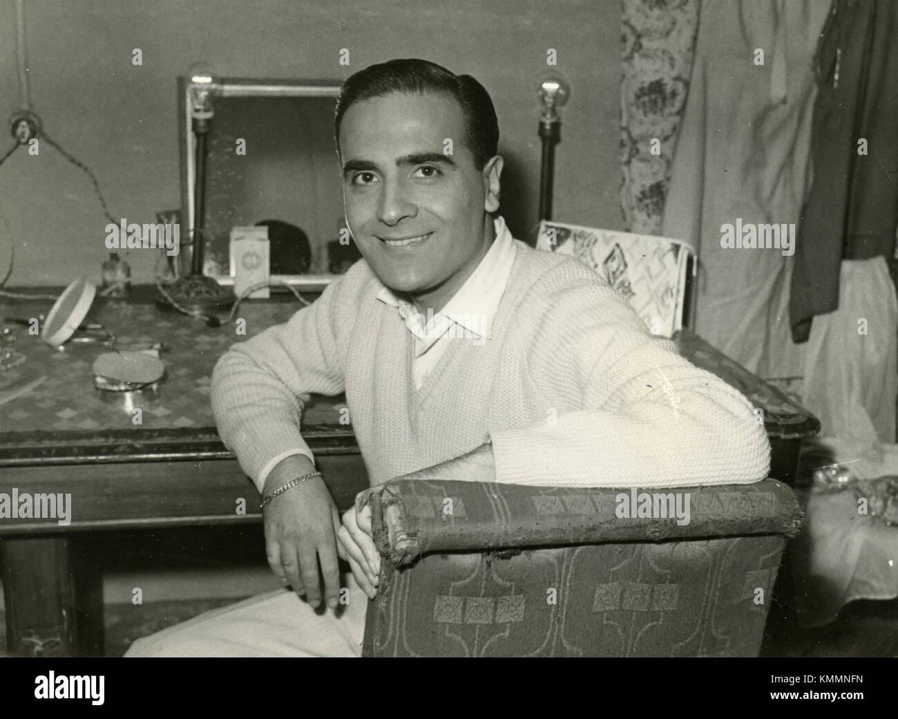 Giorgio, Unidentified theatrical actor, Italy 1954 - Stock Image