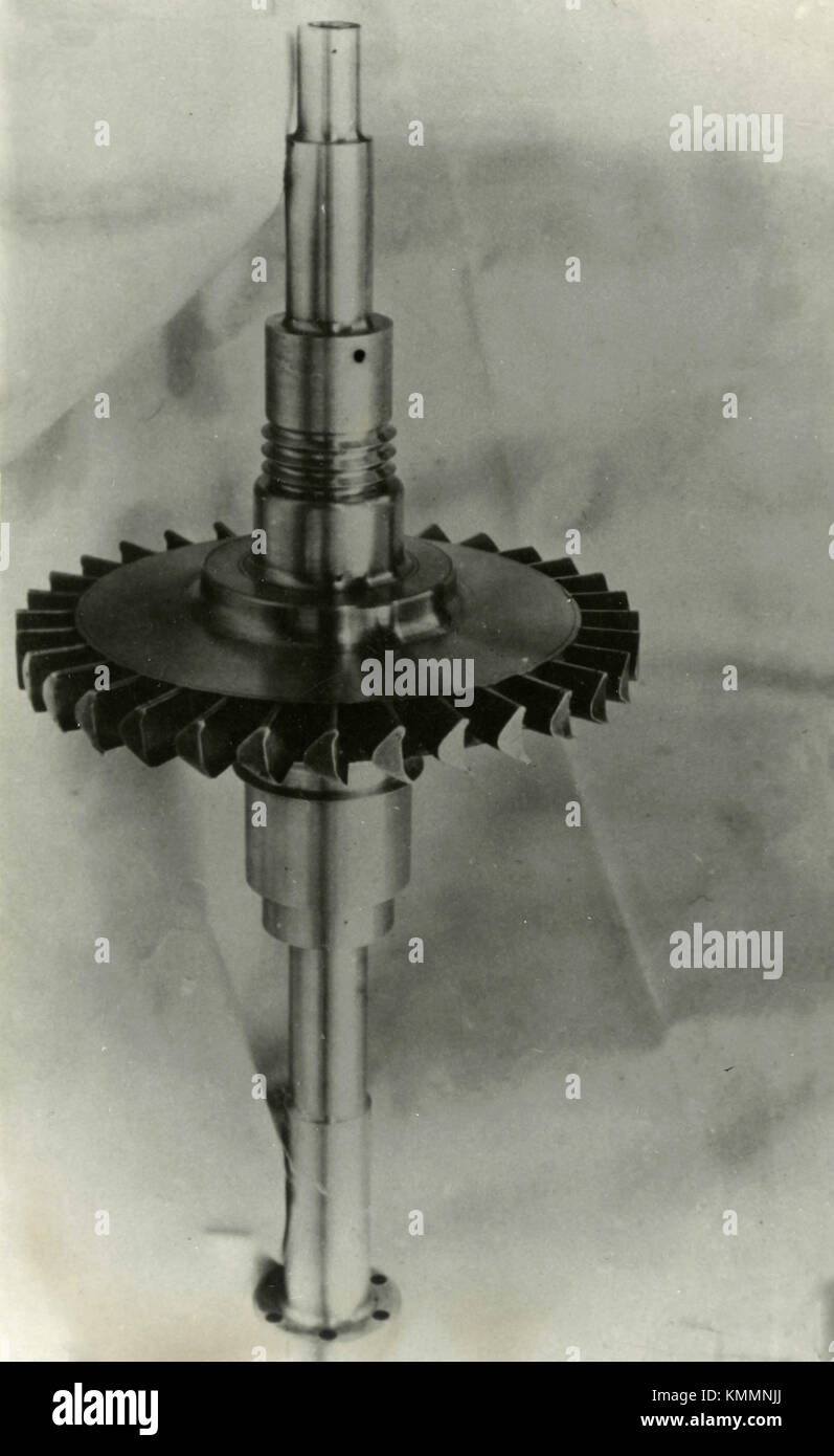 Belluzzo axial turbine internal combustion, Italy 1949 - Stock Image