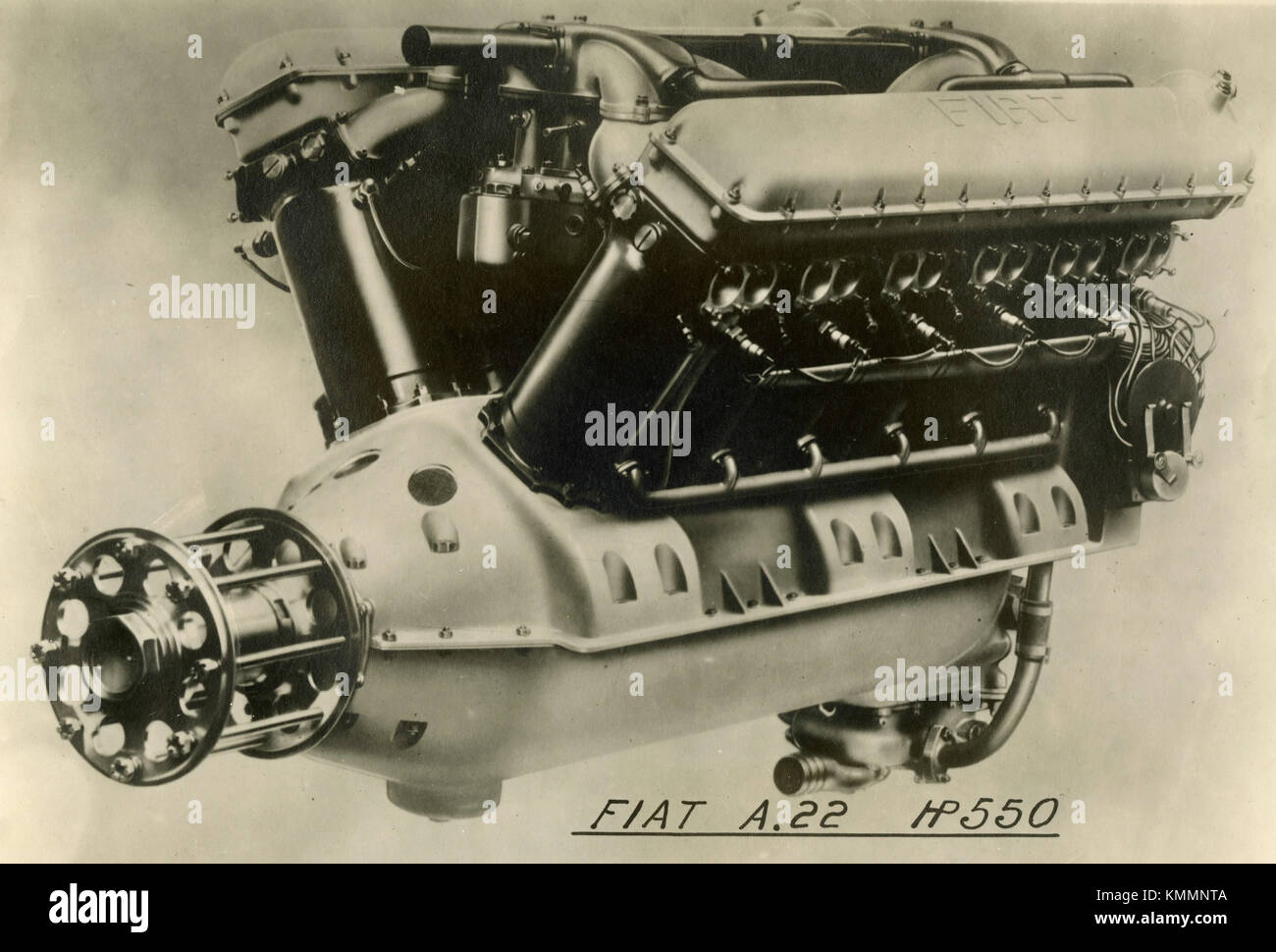 FIAT aviation engine A.22 (550 CV), Italy 1920s - Stock Image
