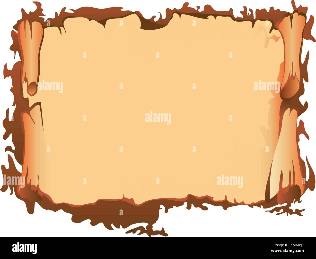 Old paper scroll, vector illustration Stock Vector Art