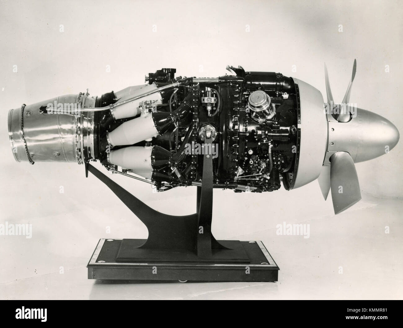 Rolls-Royce Dart turbo-prop aviation engine jet propulsion, UK 1950s - Stock Image