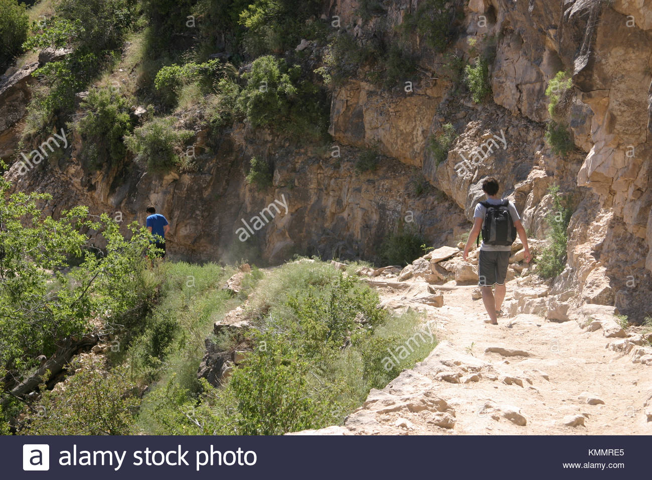 Hiking in the Grand Canyon - Stock Image