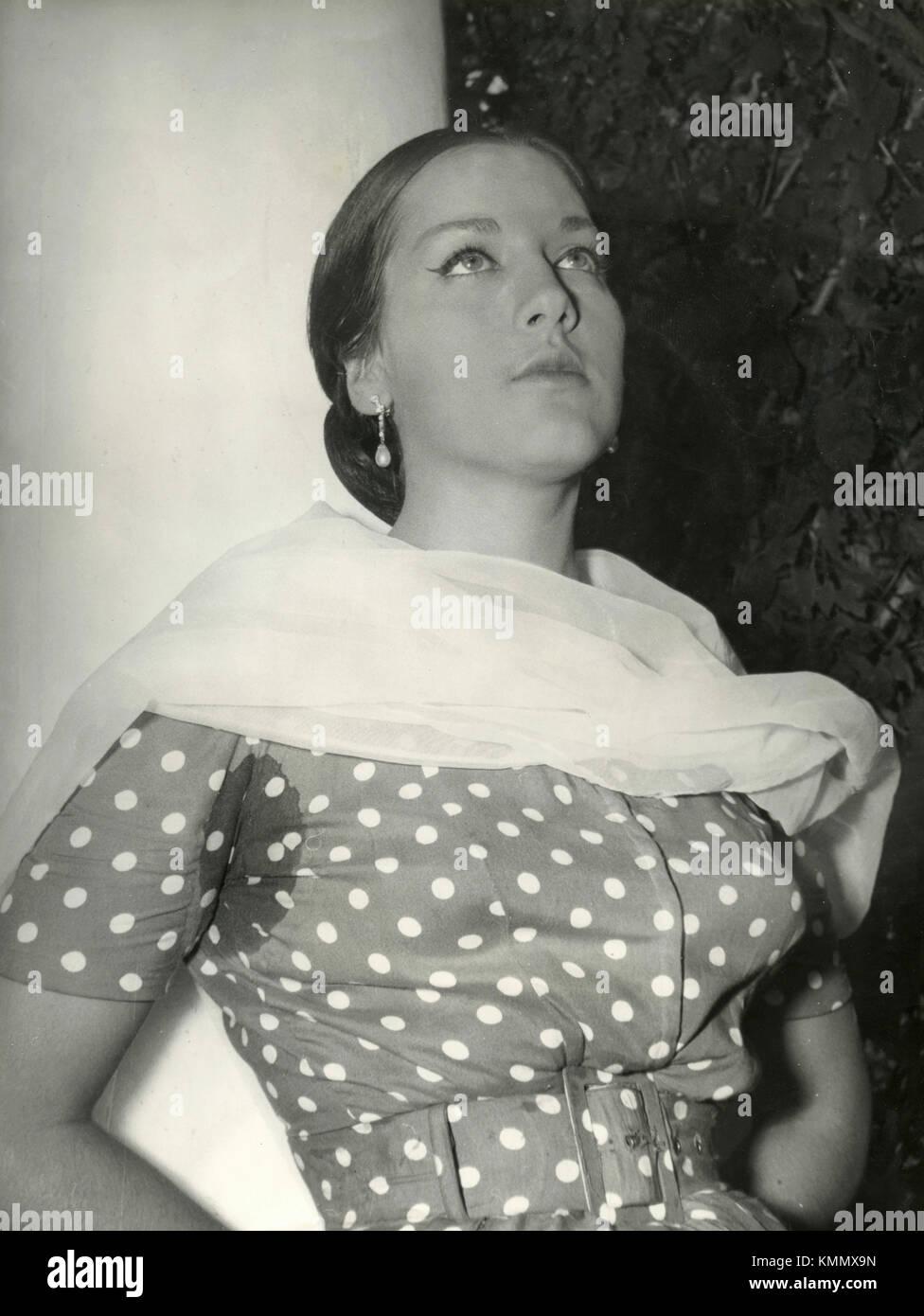 Italian actress Lilly Fabbri, 1946 - Stock Image