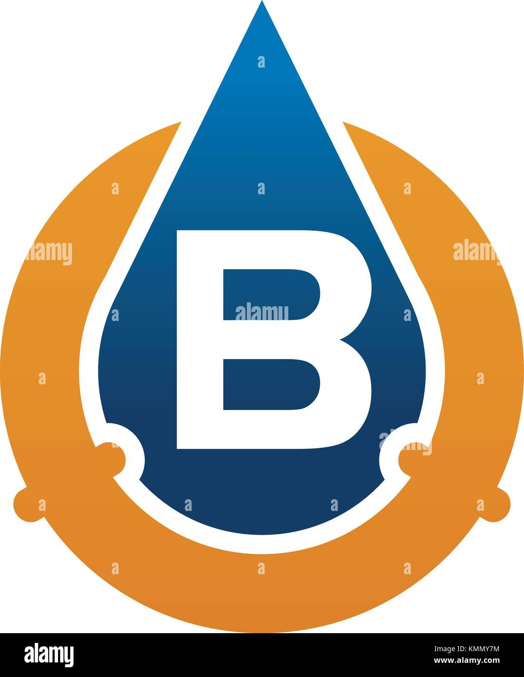 B Stock Solutions oil water pipe solutions letter b stock vector art