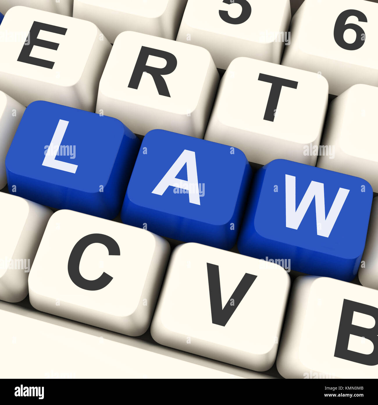 Law Key Meaning Legally Statute Or Judicial - Stock Image