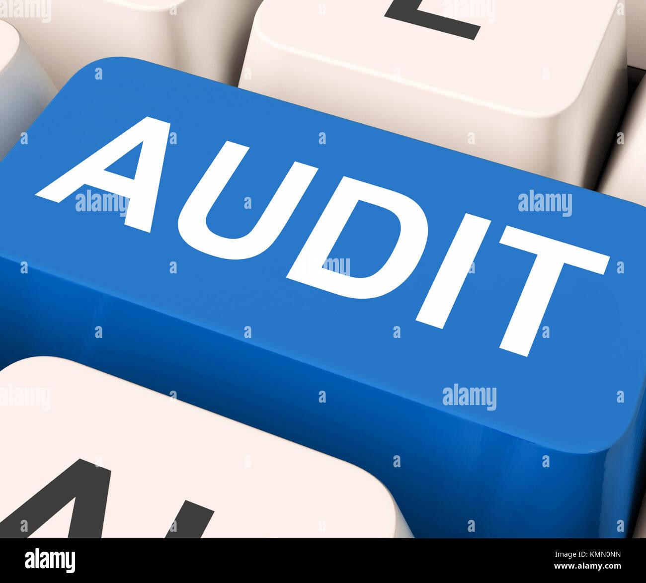 Audit Key Showing Auditor Validation Or Inspection - Stock Image