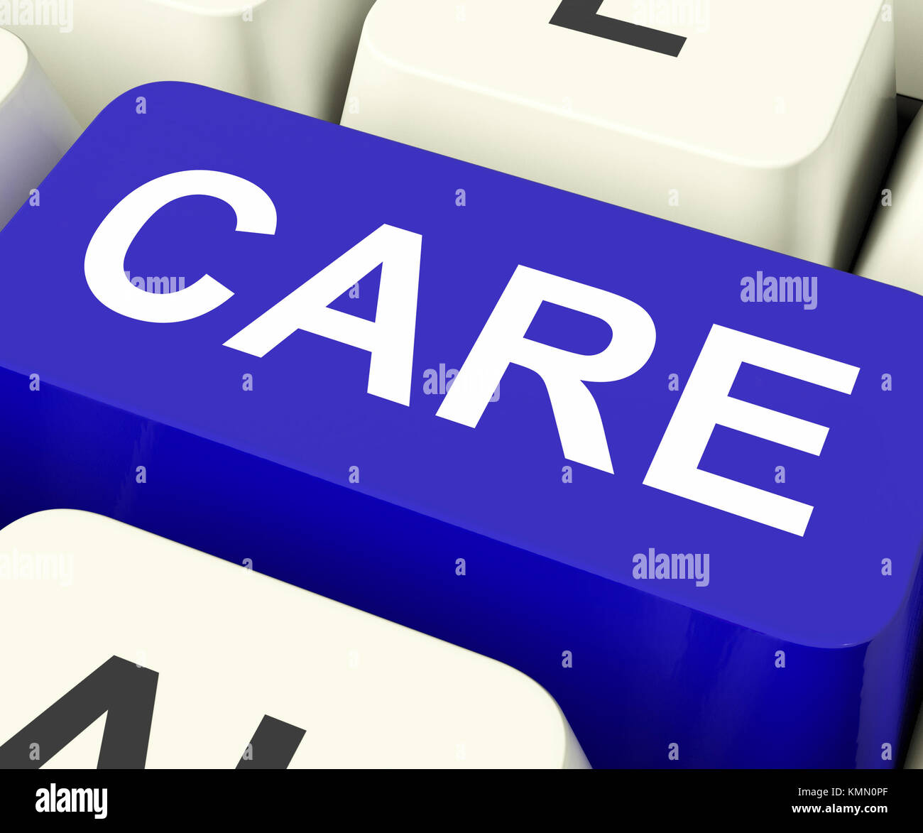 Care Keys Showing Concern Or Look After - Stock Image