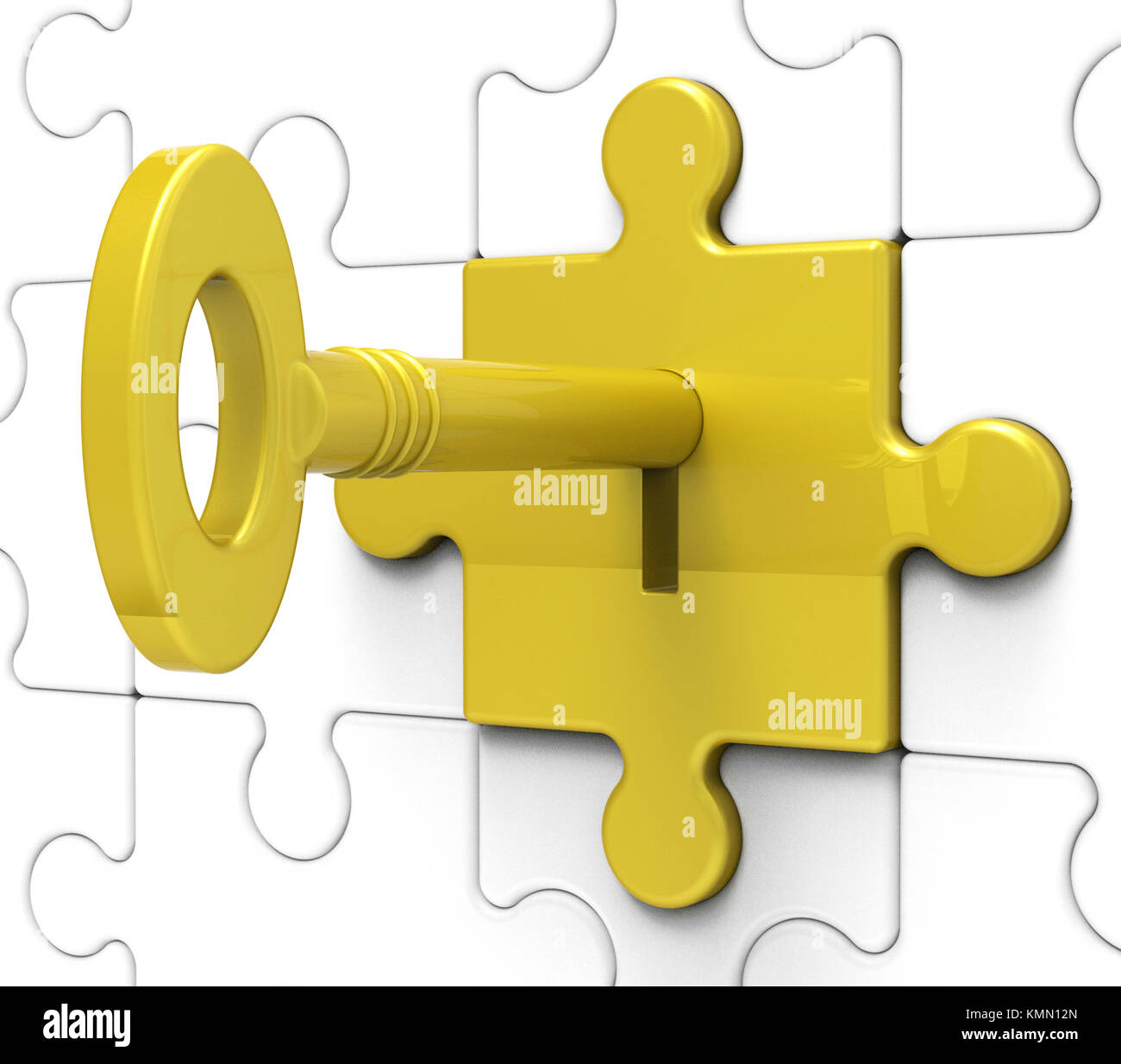 Key In Lock Shows Hidden And Locked Secrets - Stock Image