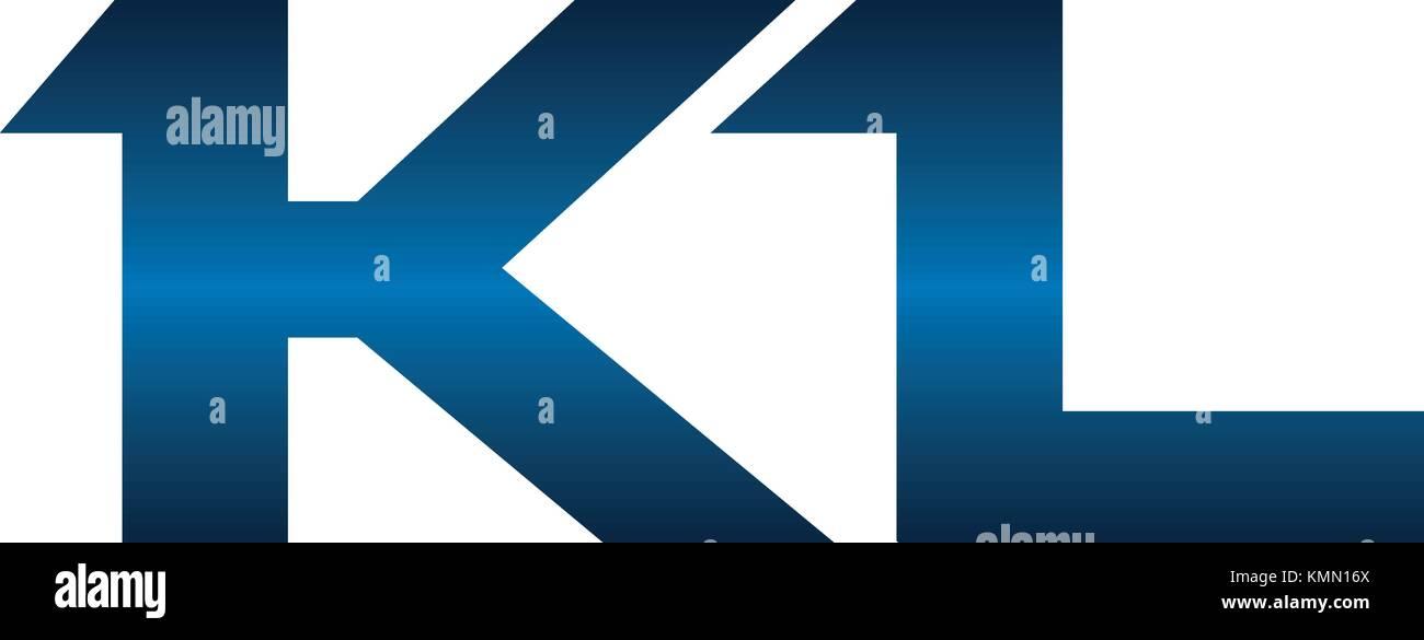 Modern Solution Letter K L - Stock Vector