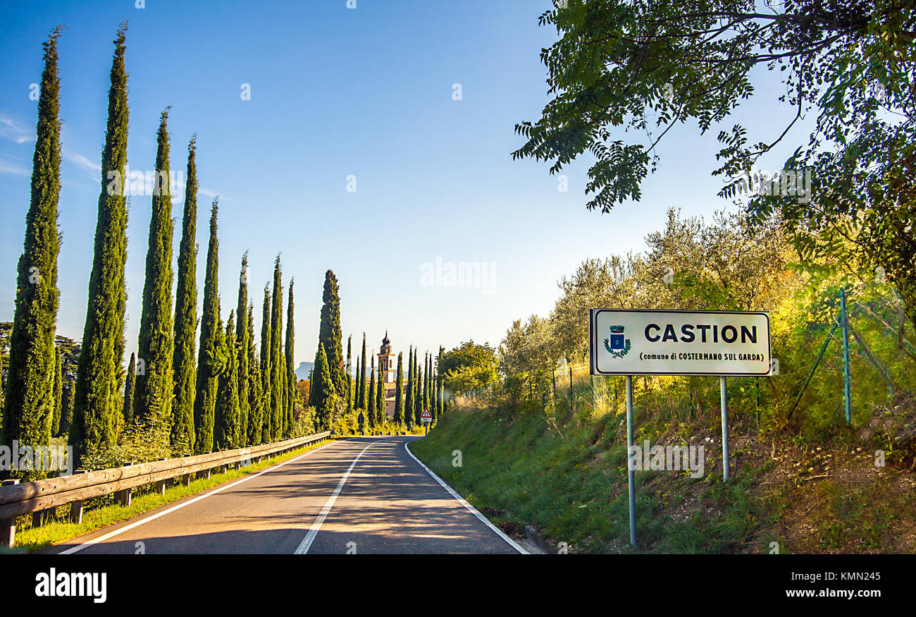 Castion Veronese in Italy - Stock Image