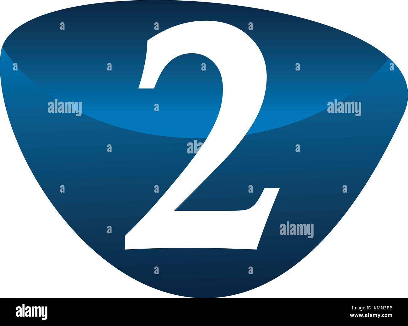 Modern Number 2 - Stock Image