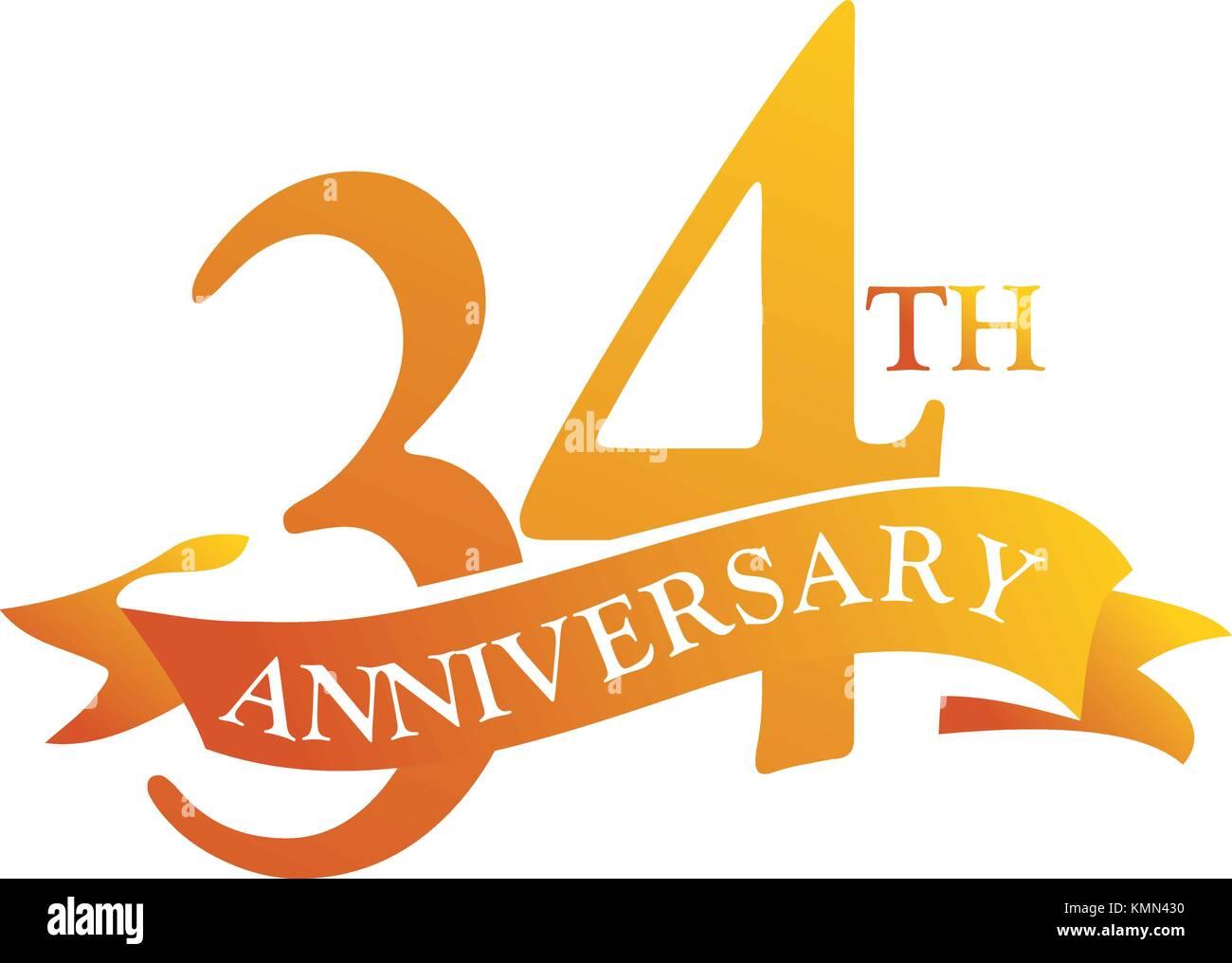 34 Anniversario Di Matrimonio.34 Birthday Icon Vector Stock Photos 34 Birthday Icon Vector
