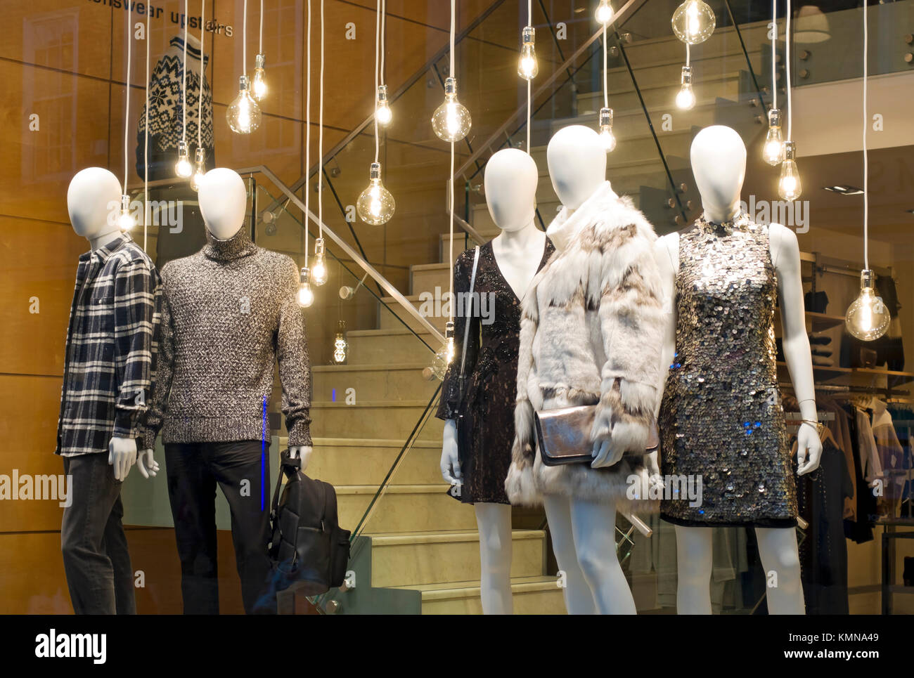 6d7eadd9240 Mannequins in shop store window England UK United Kingdom GB Great Britain  - Stock Image