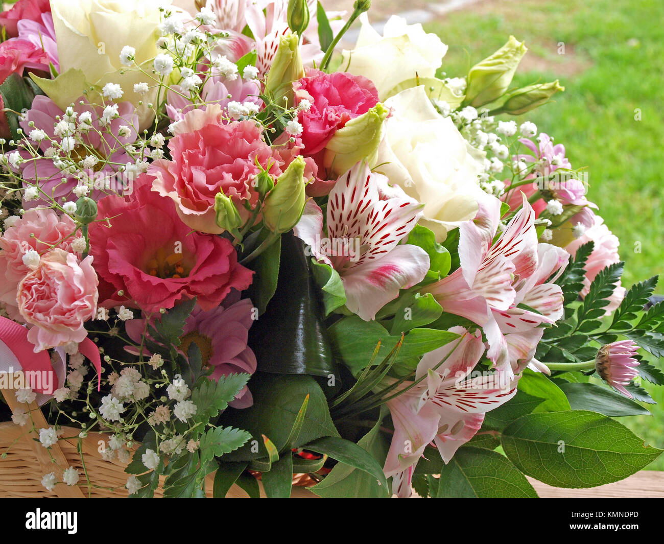 Greeting bouquet bunch of different flowers outdoor close up stock greeting bouquet bunch of different flowers outdoor close up izmirmasajfo