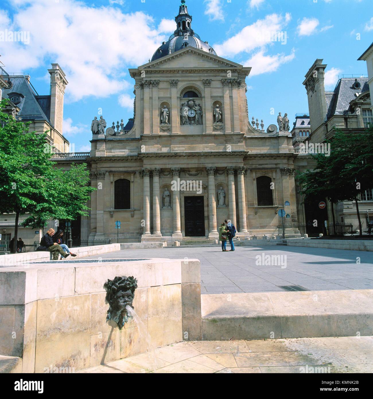 La Sorbonne. Paris. France - Stock Image
