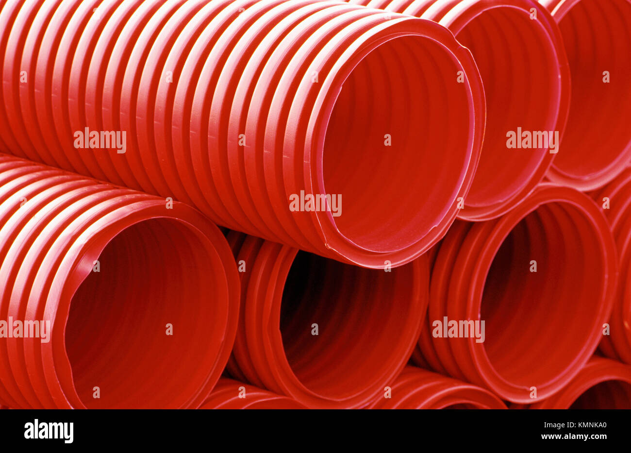 Plastic tubes for the covering of underground electric and telephone ...