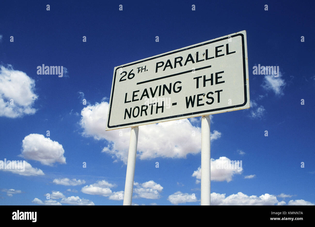 The 26th Parallel. Outback. Australia. - Stock Image