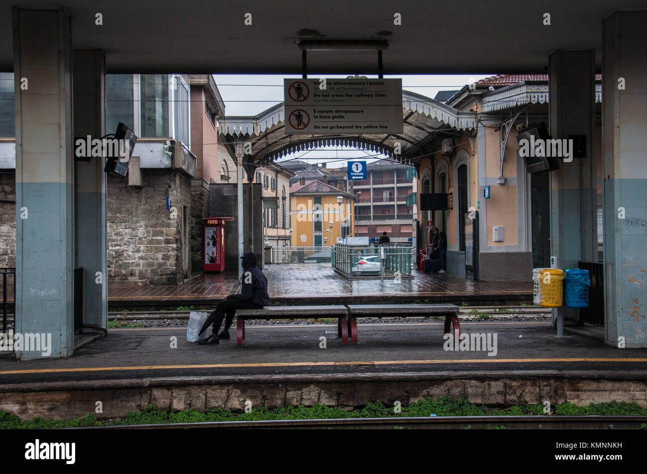train station of Lecco Lombardy Italy - Stock Image