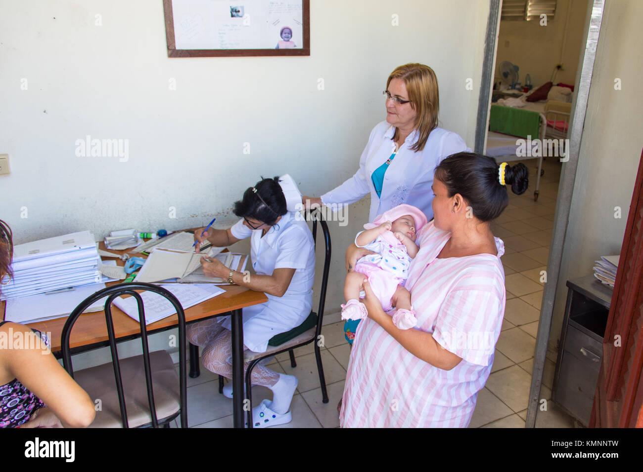 Maternity clinic or Palacio de la Maternidad, Cienfuegos, Cuba - Stock Image