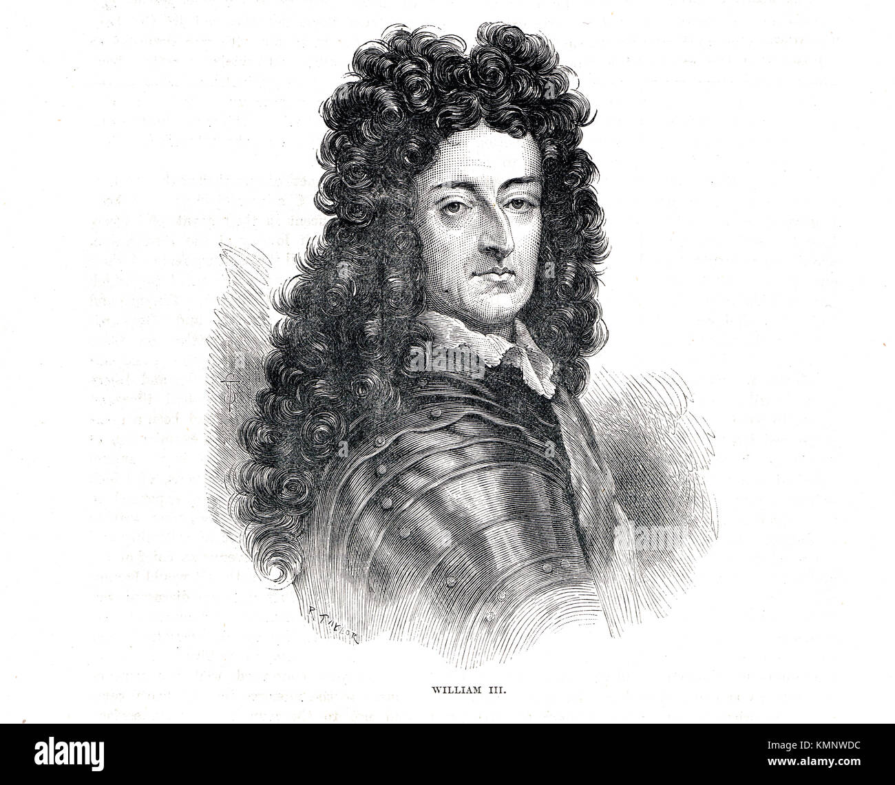 King William III of England (1650-1702) reigned 1689-1702 - Stock Image