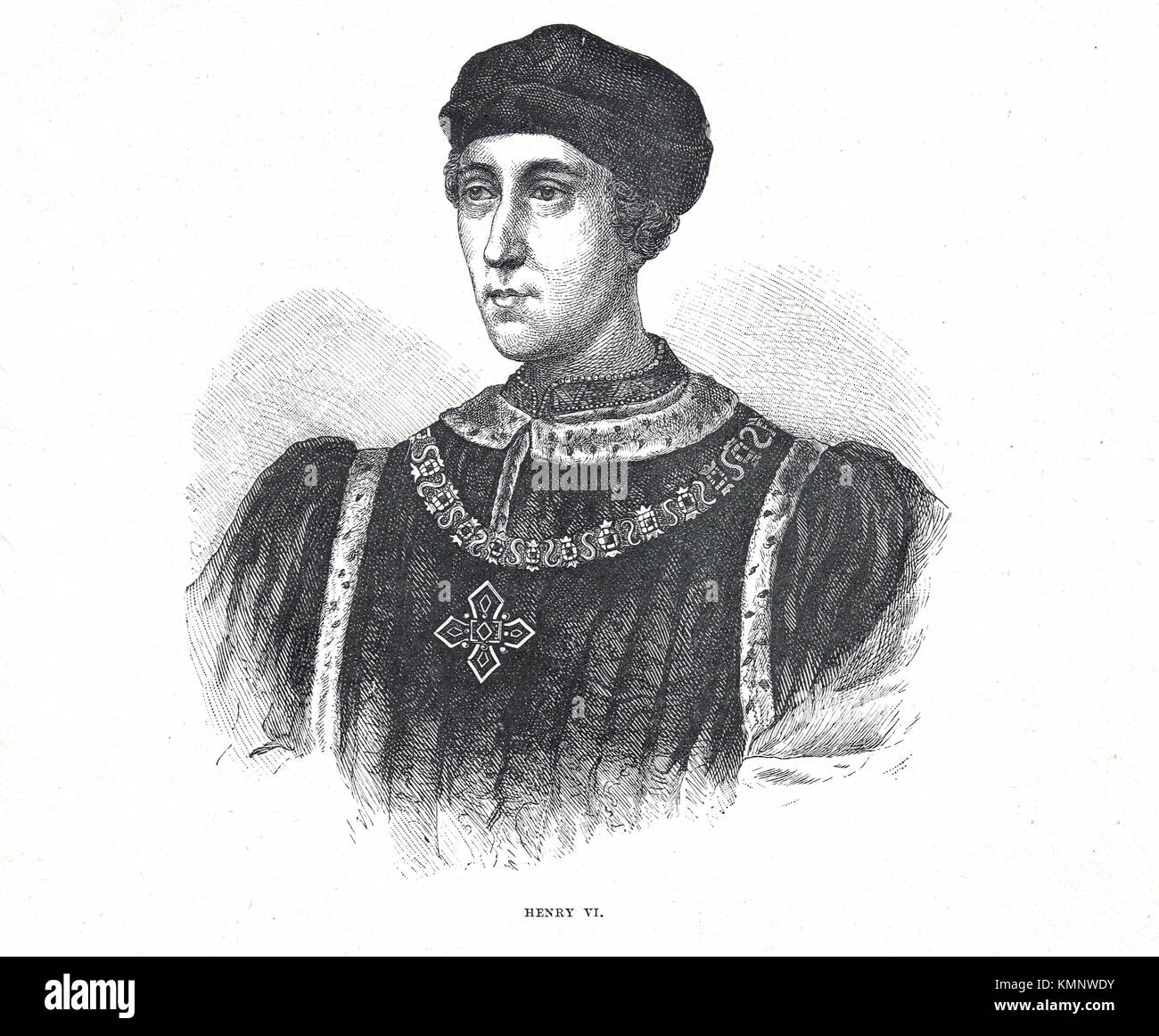 King Henry VI of England, 1421-1471, 1st Reign 1422-1453, 2nd Reign 1470-1471 - Stock Image