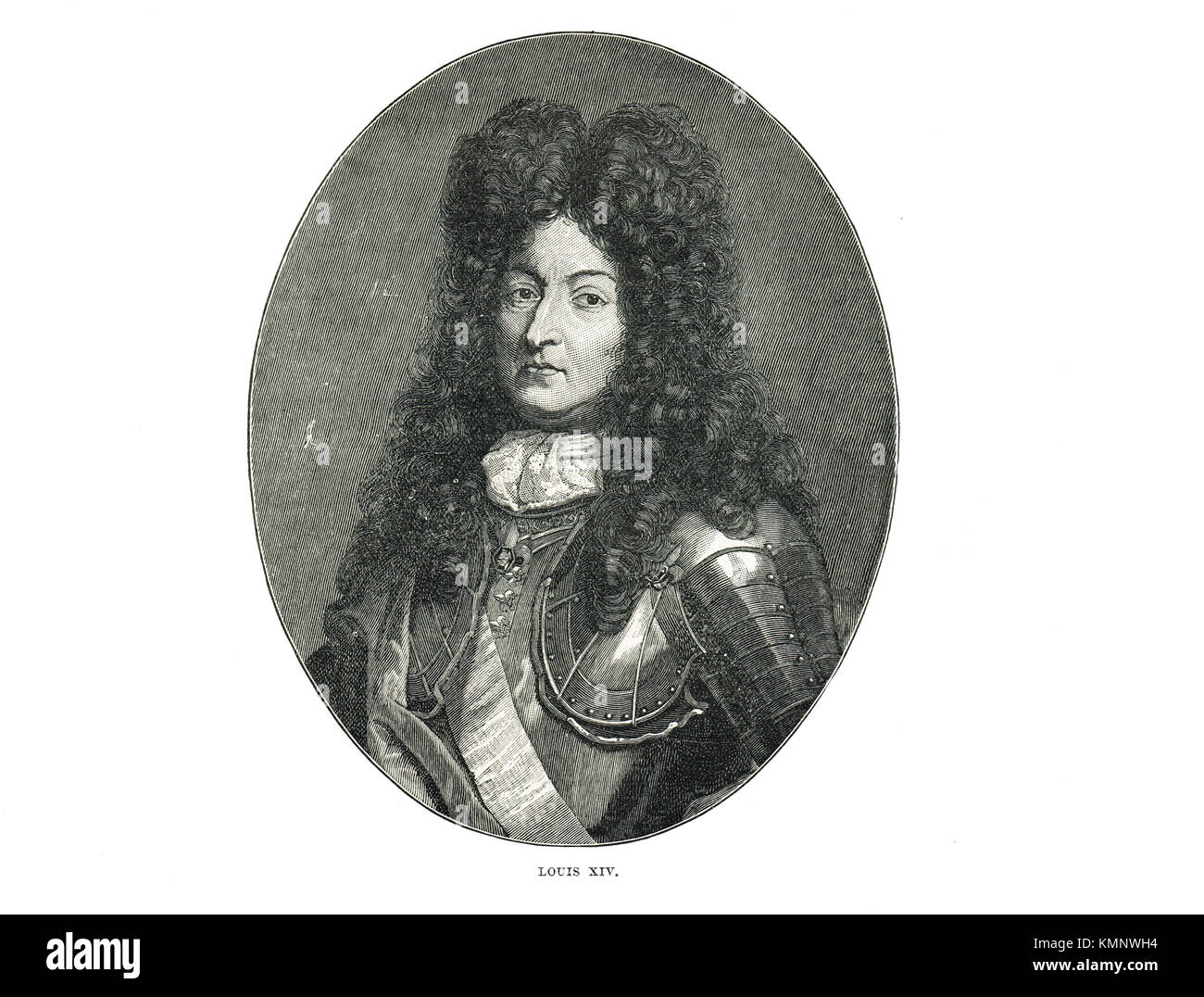 Louis XIV of France,  the Sun King (1638-1715), reigned 1643-1715 - Stock Image