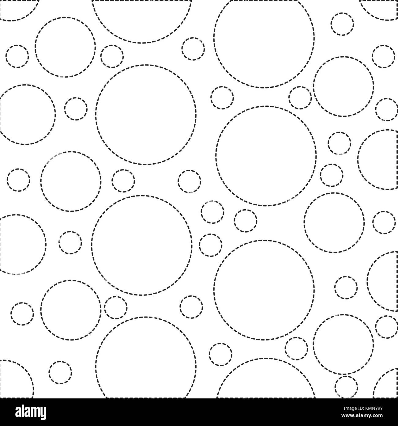dotted shape circle design memphis style background - Stock Image