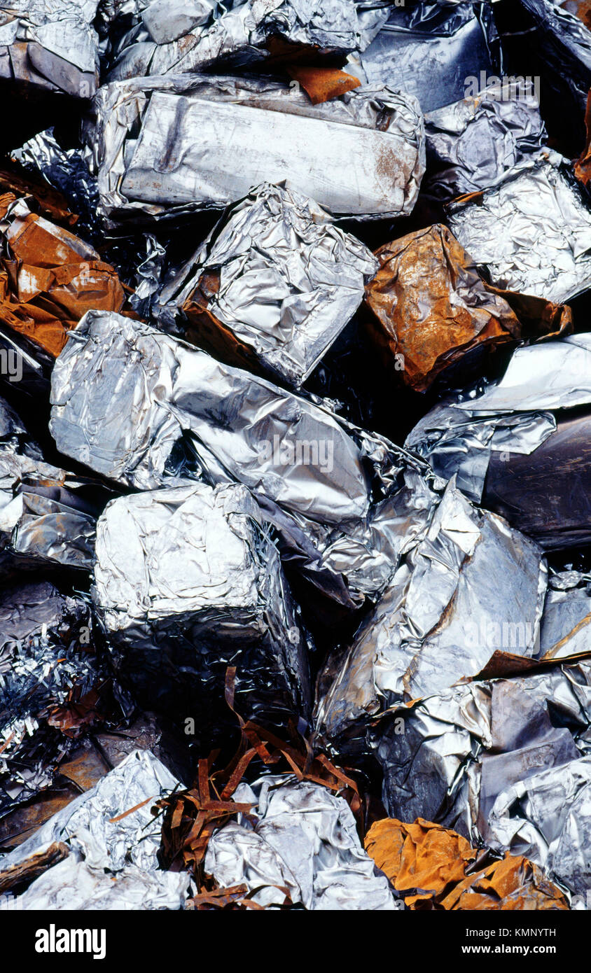 Junk. pressed steel sheet metal. Santurtzi. Biscay. Basque Country. Spain - Stock Image