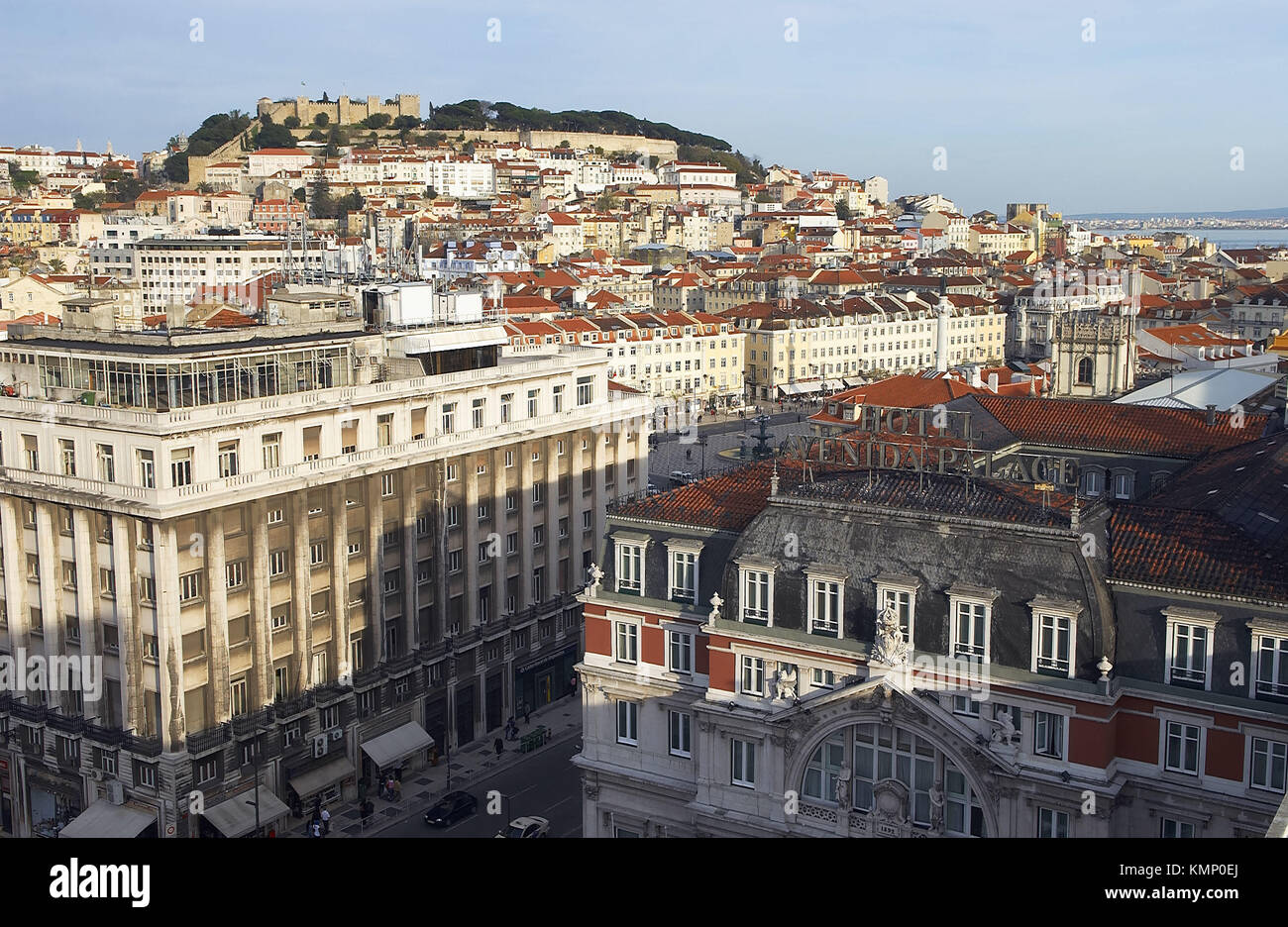 General view from St. George´s Castle, Lisbon. Portugal - Stock Image